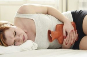 Menstrual pain and heat pad, hot water bottle