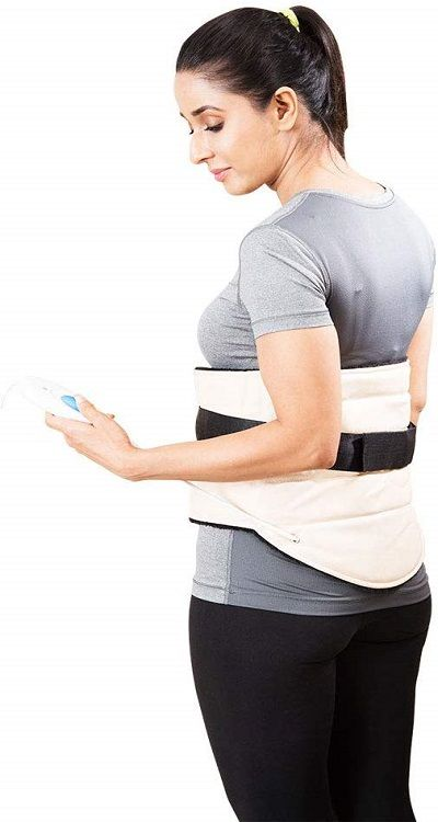 JSB H10 back brace heat pad for pain relief curetechie review