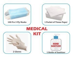 combo of face mask sanitizer gloves for protection virus dust pollution