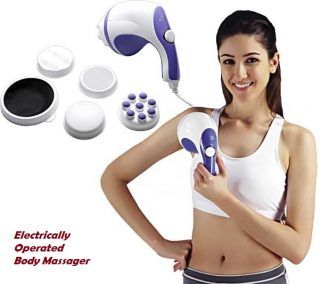 Hand held body massager, body massager