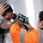infrared thermometer coronavirus fever check airport